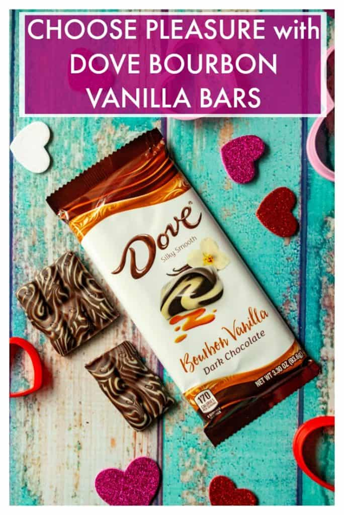 Choose Pleasure and share the love this Valentine's Day with DOVE® Bourbon Vanilla bars. Perfect as a sweet treat for the one you love or a way to celebrate the day for yourself, sharingDOVE® Chocolate Bars is the very best way to celebrate Valentine's Day. #RaiseTheChocolateBar #CollectiveBias #Ad #dovechocolatebars #dovebourbonvanillabars #bourbonvanilla #valentinesdaychocolate