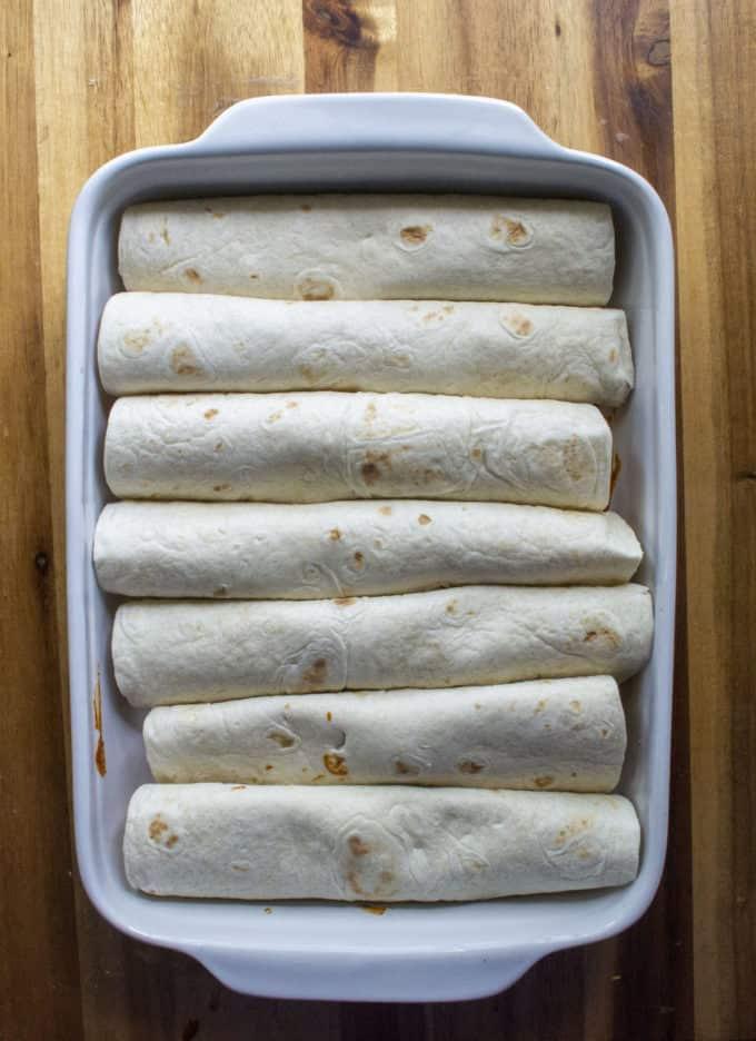 rolled chicken enchilada