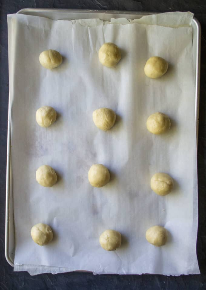 big balls of sour cream cookie dough