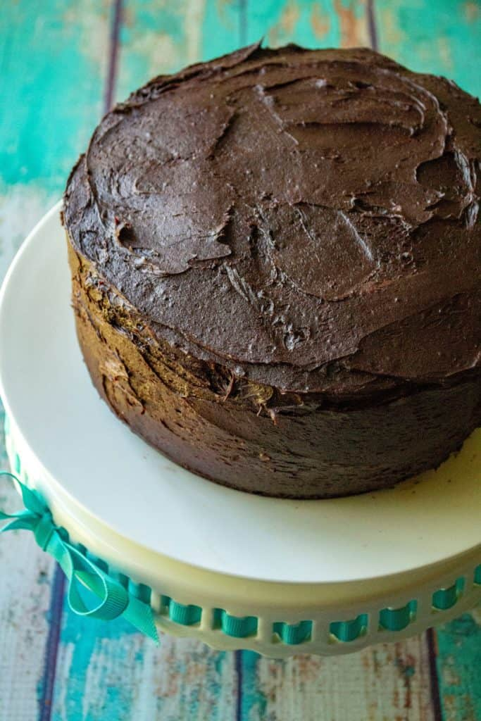 Best Homemade Chocolate Cake chocolate buttercream frosting