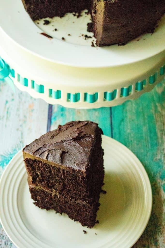 Best Homemade Chocolate Cake piece