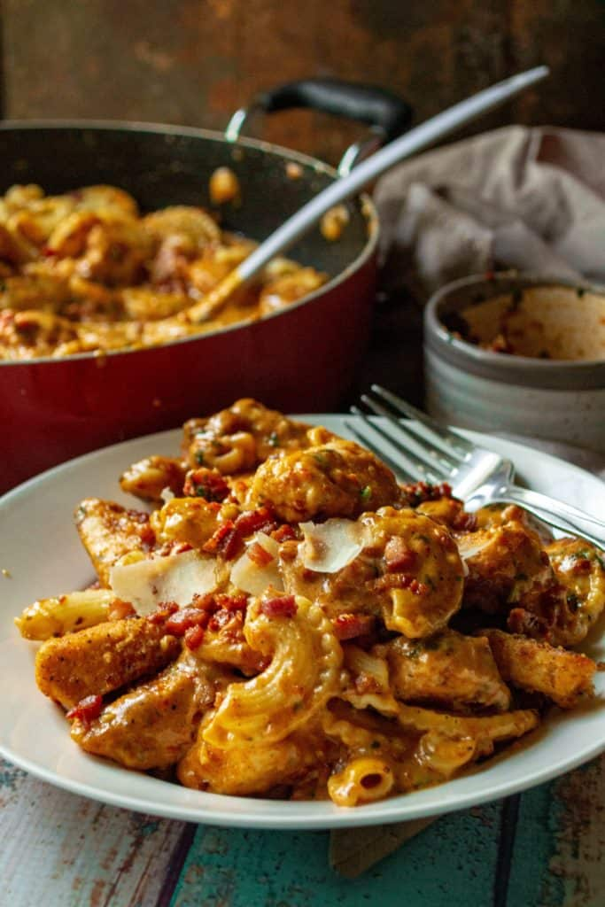 Date Night Sun-Dried Tomato Pesto Pasta in a bowl