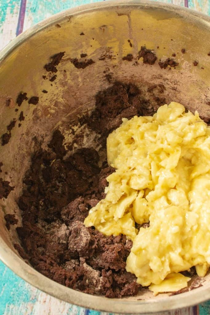 Triple Chocolate Banana Bread batter