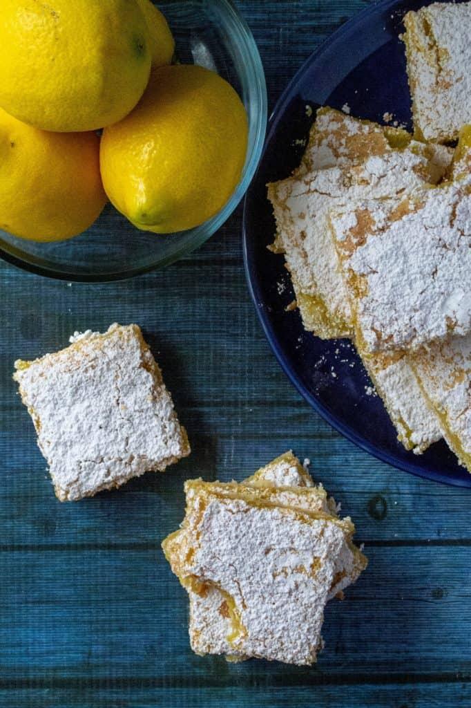 Dangerously Easy Classic Lemon Bars ready to eat