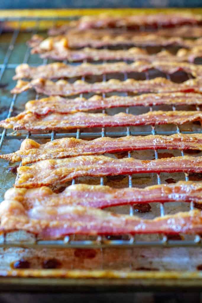 Cheesy Bacon Broccoli Casserole bacon slices