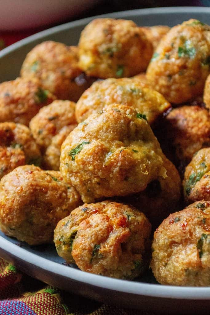 Keto Chicken Meatballs ready to serve