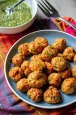 Keto Chicken Meatballs on a plate