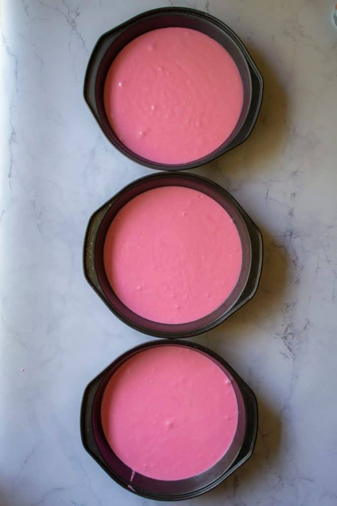 Pink Lemonade Cake pans | A Wicked Whisk