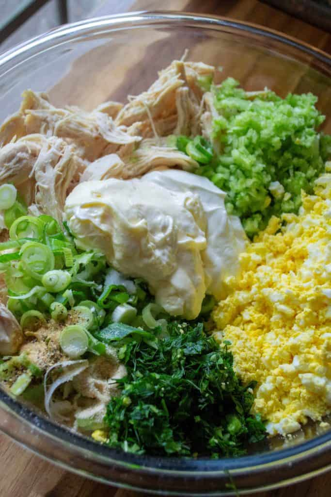 Southern Chicken Salad ingredients
