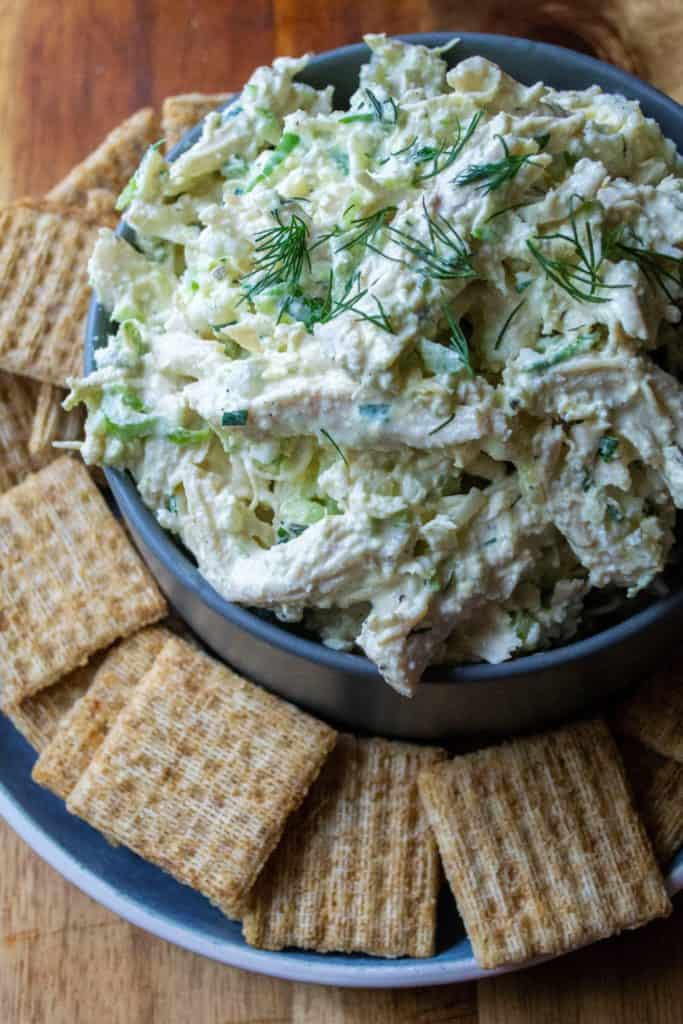 Southern Chicken Salad with crackers