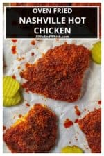 Oven Fried Nashville Hot Chicken is the very best homemade hot chicken recipe baked crispy in the oven and each bite is spicier than the last. Oven fried chicken slathered in a spicy cayenne glaze, this Oven Fried Nashville Hot Chicken will be your new favorite way to serve up chicken.   A Wicked Whisk #hotchicken #nashvillehotchicken #hotchickenoven #hotchickenbaked #hotchickensauce #hotchickenrecipe #nashvillehotchickenrecipe #nashvillehotchickenbaked #spicychickenbaked