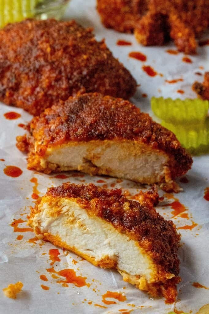 Oven Fried Nashville Hot Chicken
