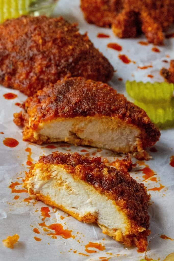 Oven Fried Nashville Hot Chicken