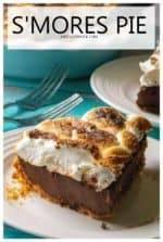 S'mores Pie is toasted marshmallows over a creamy chocolate ganache filling and a thick graham cracker crumb crust. Inspired by your favorite campfire dessert, this S'mores Pie is the decadent, grown-up version of that best-loved summertime treat. #smorespie #smorespieeasy #bestsmorespie #smorespierecipe