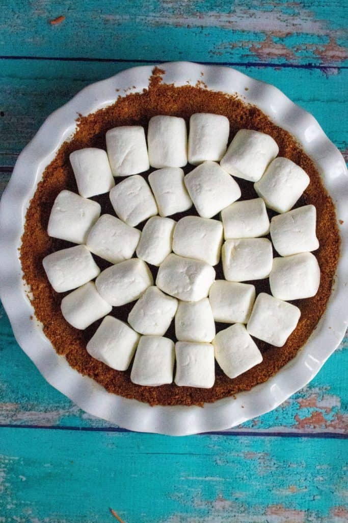 marshmallow covered pie