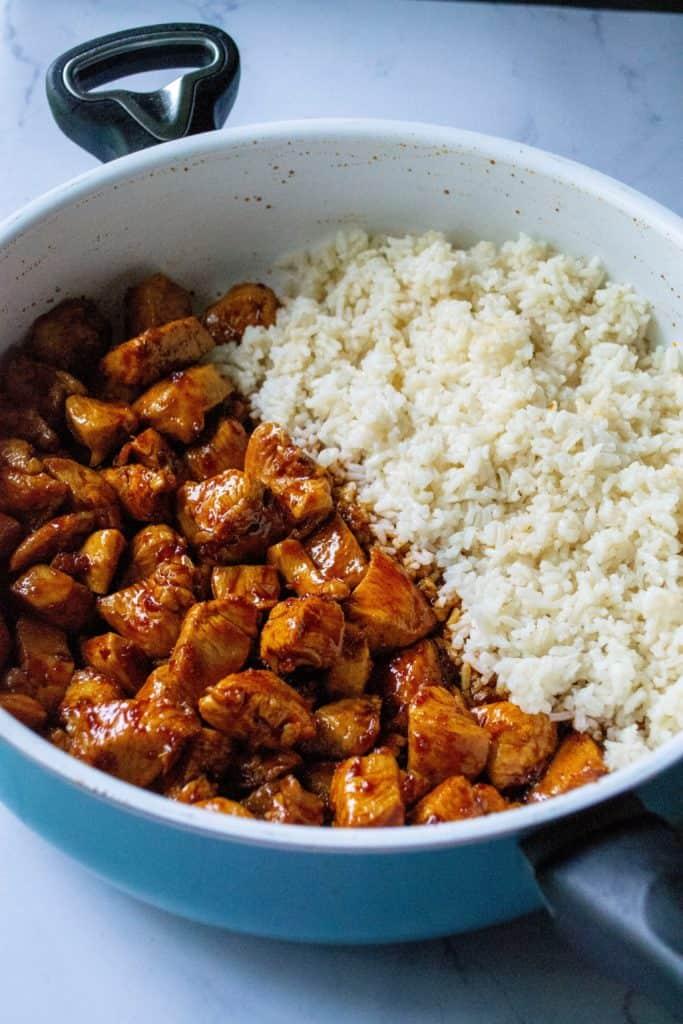 Korean chicken and rice