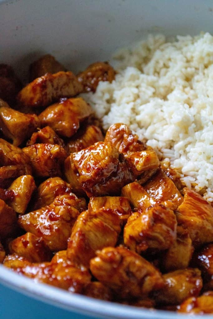 spicy chicken with rice