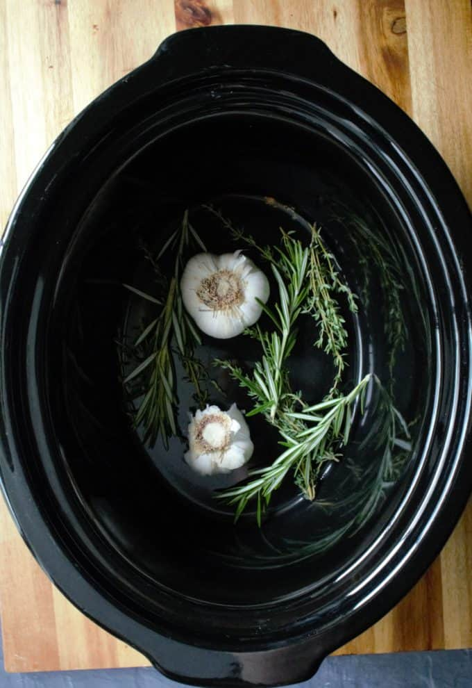 slow cooker garlic and herb