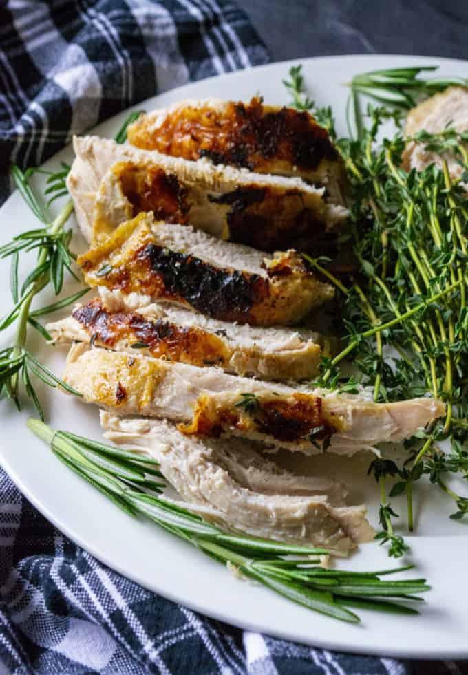 turkey breast on a plate