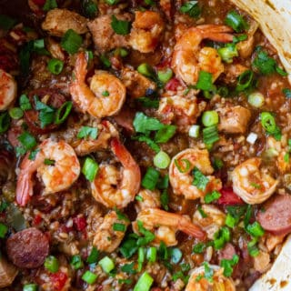 pot of the best jambalaya