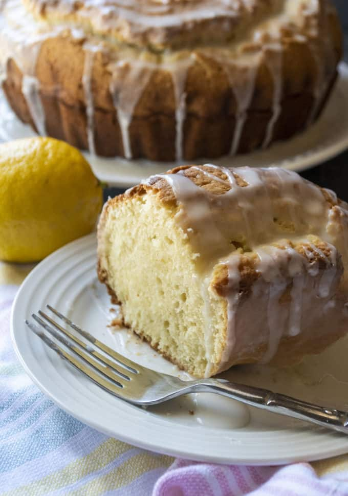 slice of lemon donut cake