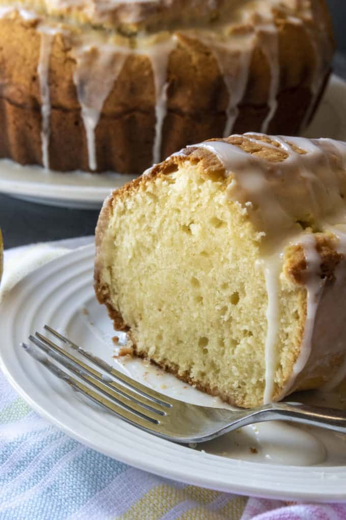 lemon donut cake on a plate