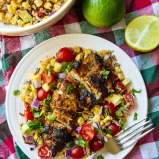 Tequila Lime Chicken with Tomato Corn Salad
