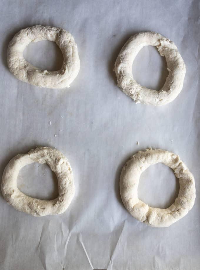 uncooked bagels