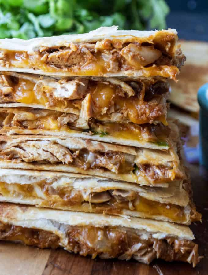 taco chicken quesadillas