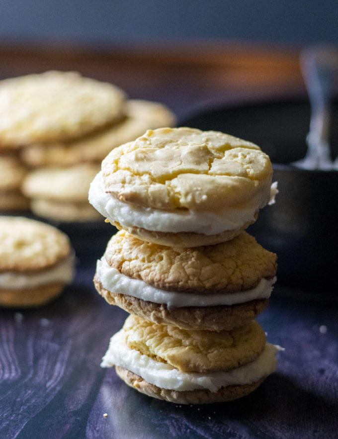 pina colada whoopie pies
