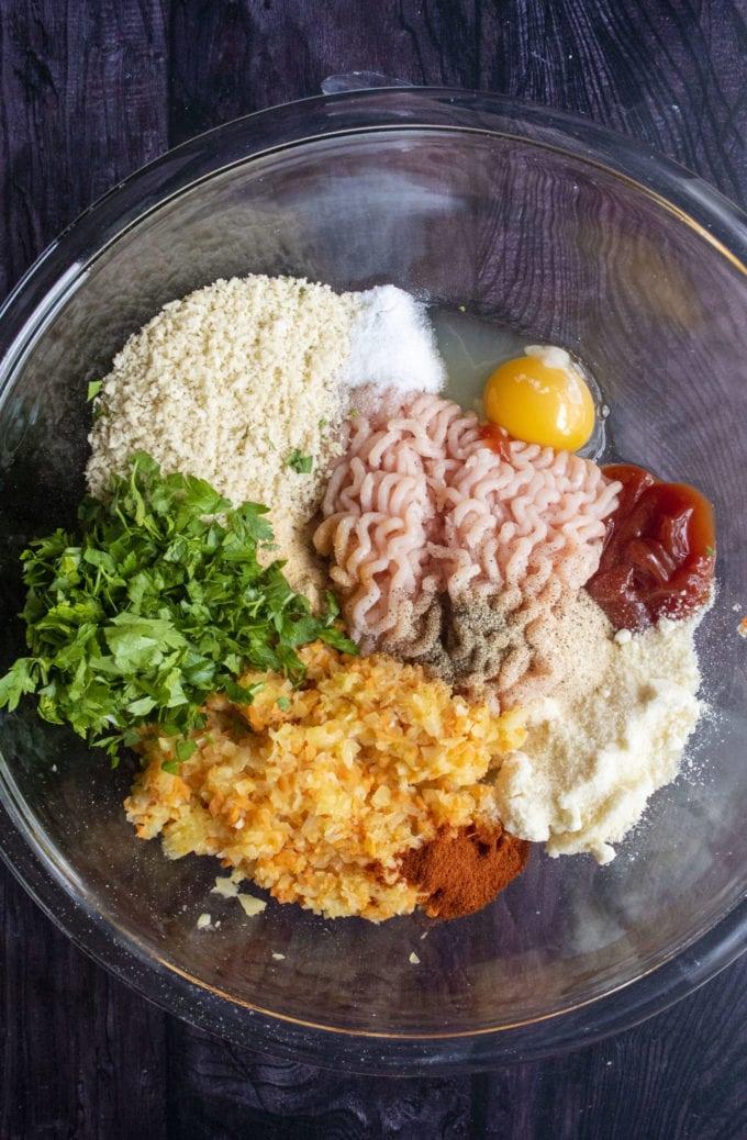 meatloaf ingredients in a bowl