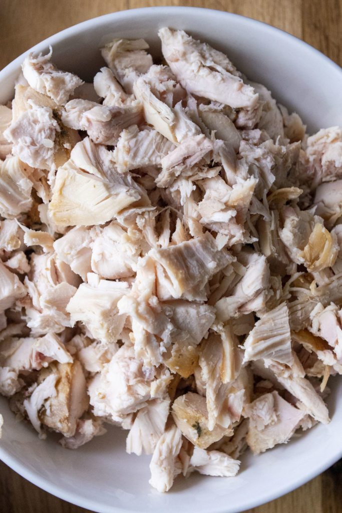 rotisserie chicken in a bowl